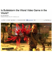 Fox News Lashes Out Against Bulletstorm